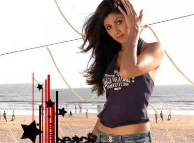 Beach pic of Shilpa Shetty